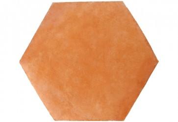 carrelage terre cuite hexagonale rose