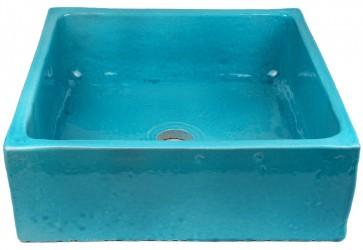 vasque a poser carre bleu