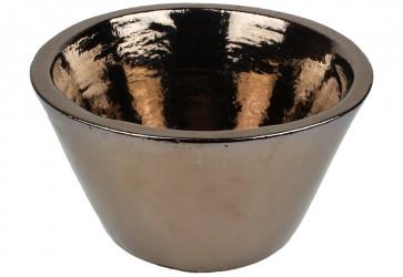 vasque a poser conique noir mordore