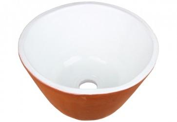 vasque a poser ceramique deux couleurs