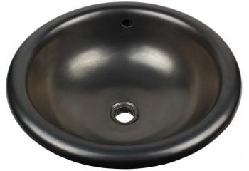 vasque a encastrer artisanale noire