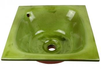 vasque a encastrer céramique verte
