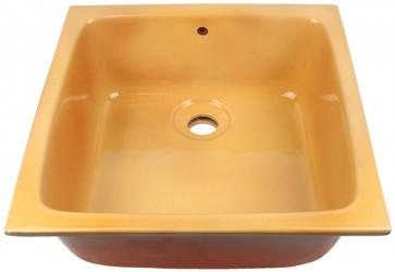 vasque a encastrer cuisine jaune