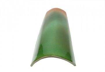 tuile vernissée verte