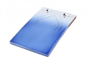 tuile plate bleu