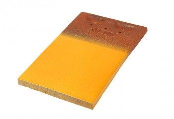tuile plate jaune