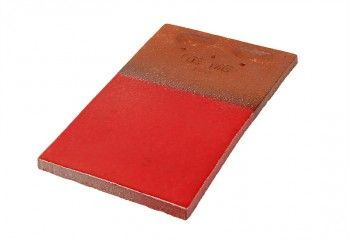 tuile plate vernissée rouge