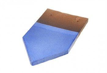 tuile fer de lance vernissee bleu