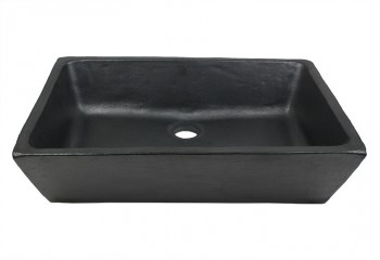 vasque a poser rectangle noire