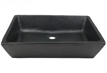 vasque a poser rectangulaire noire