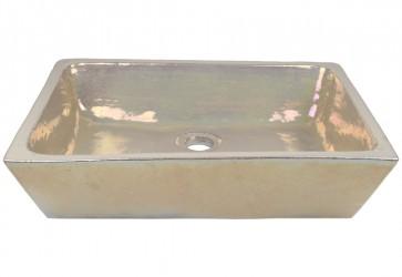 vasque a poser rectangulaire nacre