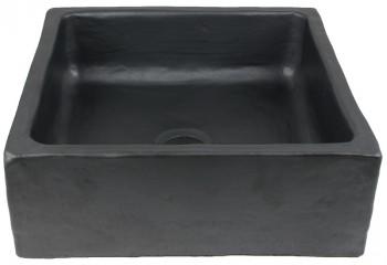 vasque a poser carre noir