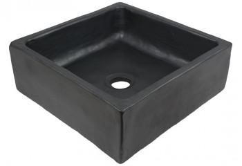 vasque a poser artisanale noire