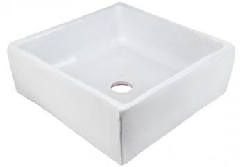 vasque a poser artisanale blanche