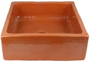 vasque a poser carre ceramique naturelle