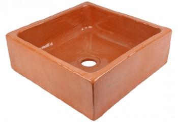 vasque a poser artisanale terre cuite