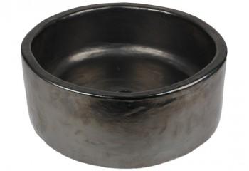 vasque a poser ronde noir mat