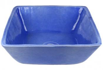 vasque a poser carre bleu lavande