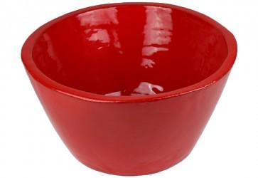 vasque a poser conique rouge