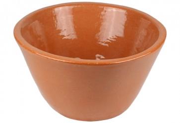 vasque a poser conique terre cuite