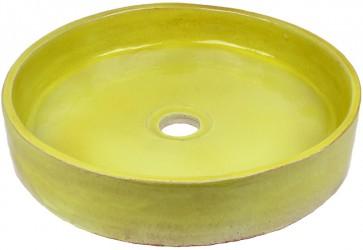 vasque a poser ceramique vert anis