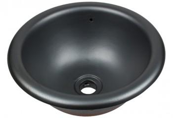 vasque a encastrer ronde noir mat