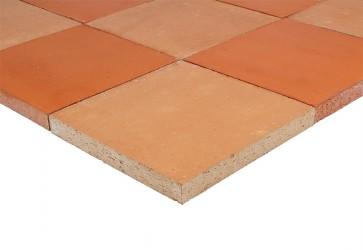 terre cuite de sol rouge rosé