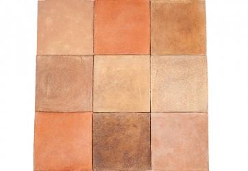 carrelage terre cuite trois couleurs