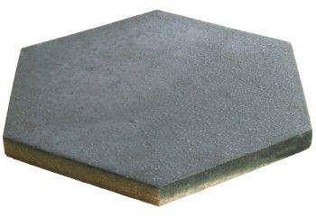 tomette hexagonale gris métal