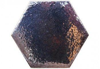 carrelage hexagonal noir
