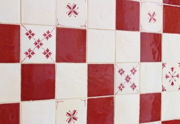 carrelage mural motif basque