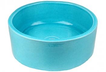 vasque a poser ronde bleue