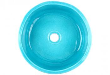 vasque a poser fait main bleu