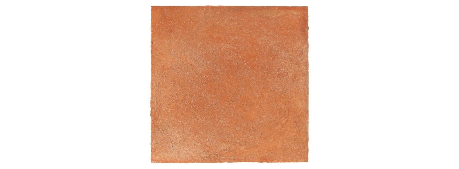échantillon de terre cuite patinée main - rouge rosé foncé