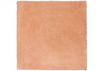 échantillon de terre cuite patinée main - rouge rosé
