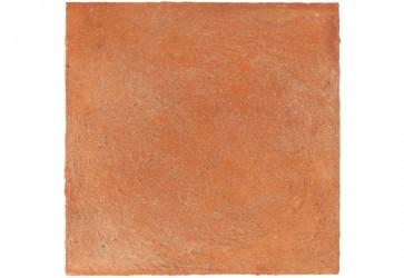 échantillon de terre cuite patinée main pour extérieur rouge foncé