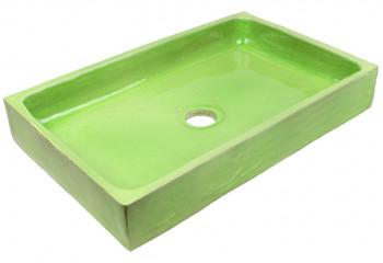 vasque a poser fait main vert clair