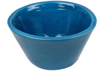 vasque a poser conique bleu