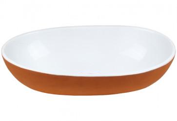 vasque a poser ovale deux couleurs