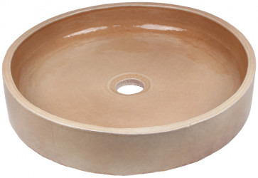 vasque a poser ceramique beige