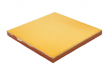 carrelage artisanal jaune orange