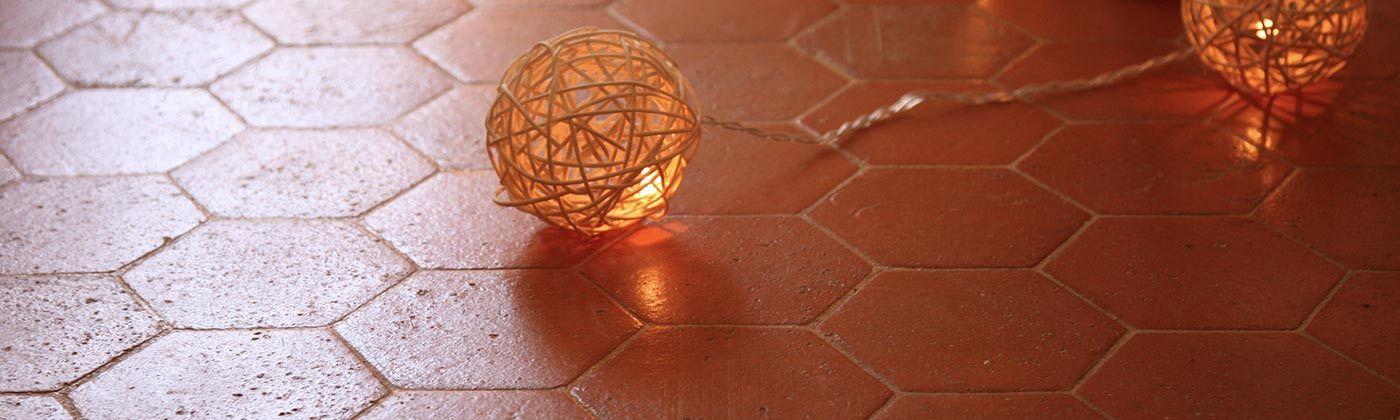 Tomette hexagonale Terre Cuite, tomettes intérieurs