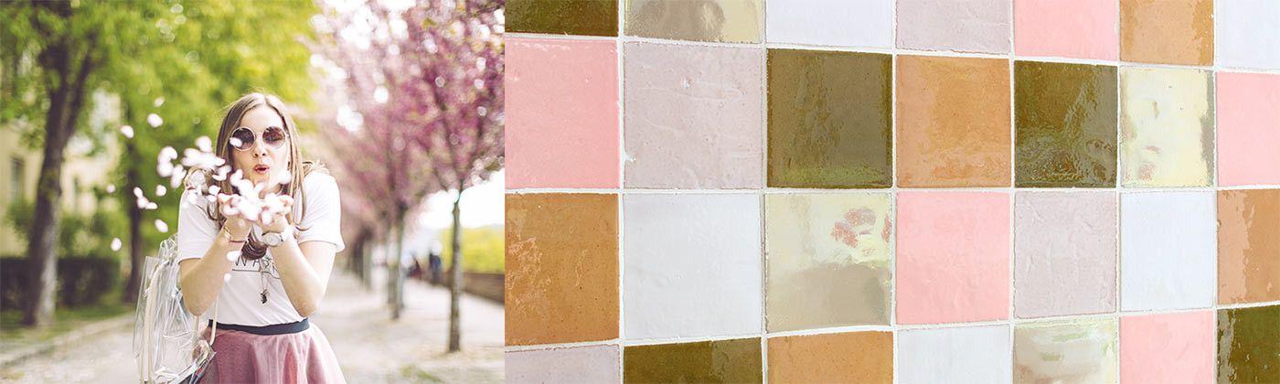 Compositions de faïences de couleurs unies