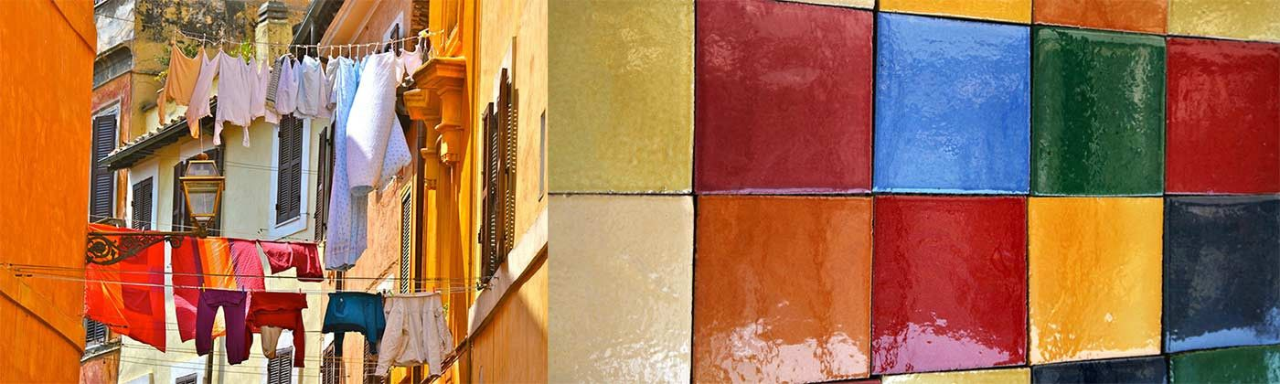 Collections plain and patterned wall tiles