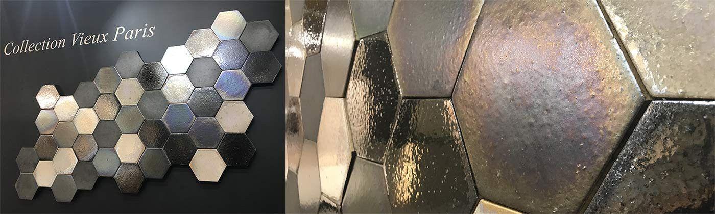 Faience hexagonale : carrelage uni hexagonal, tomettes murales