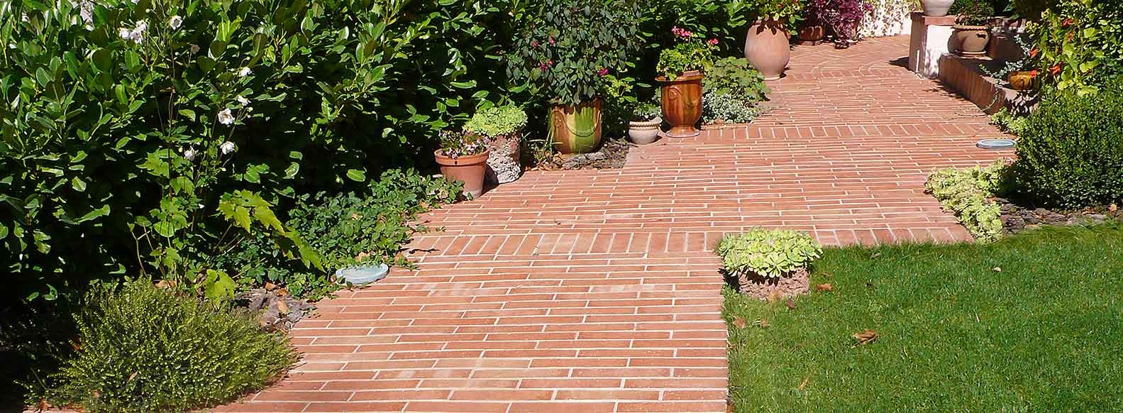 Creating a brick garden path