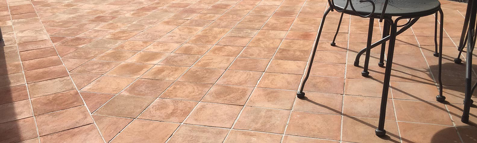 Outdoor terracotta tile