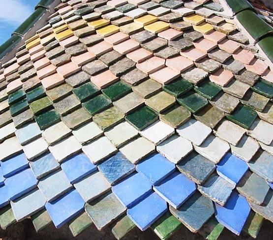 Glazed Pointed Roof Tile