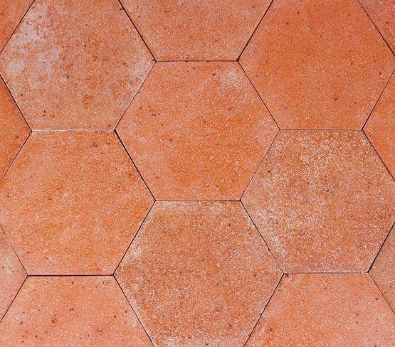 Red - Antique Hexagon